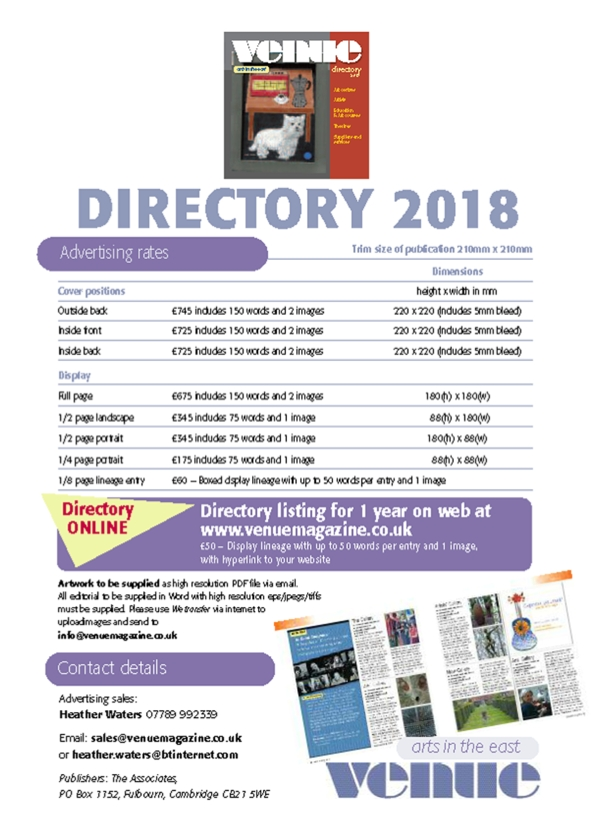 Venue DIRECTORY Rate card HW2018 .tiff